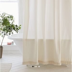 Urban Outfitters Topenga fringe shower curtain NWT